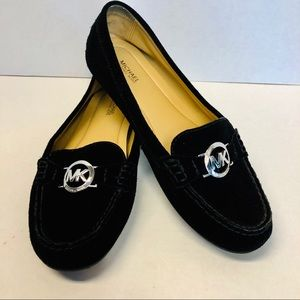 Michael Kors Black Suede Suede Loafers